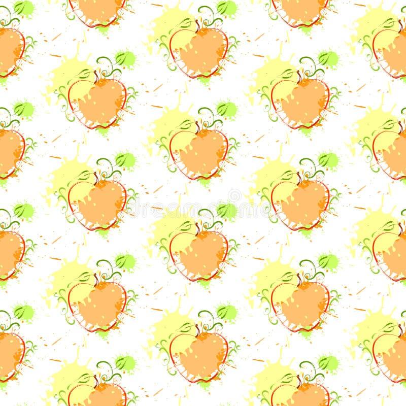 Ornamento senza cuciture di Autumn Harvest Concept Season Fall del fondo del modello della zucca illustrazione di stock