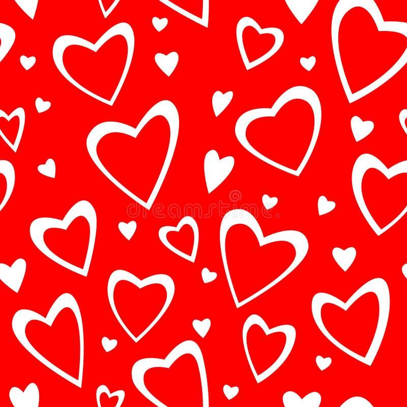 Ornamento senza giunte del Valentin con i cuori royalty illustrazione gratis