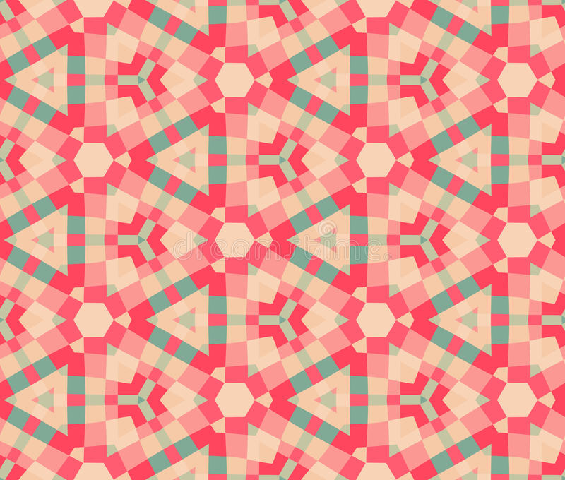 Ornamento senza giunte geometrico moderno etnico del reticolo royalty illustrazione gratis
