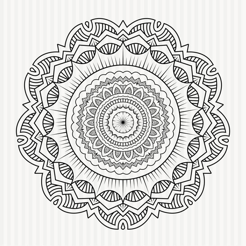 Ornamento simétrico da mandala foto de stock