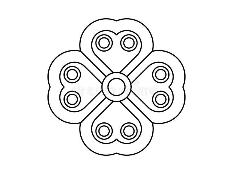 Ornamento similar floral en el fondo blanco ilustración del vector