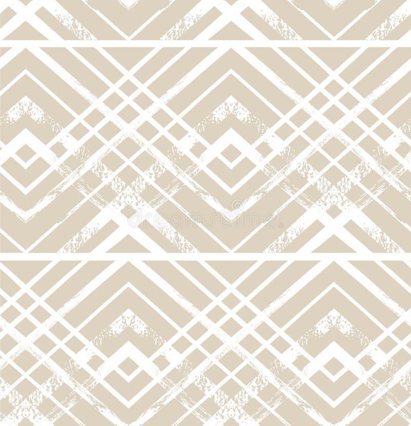 Ornamento a strisce geometrico Modello senza cuciture pastello di vettore struttura alla moda moderna Ornamento della decorazione illustrazione vettoriale