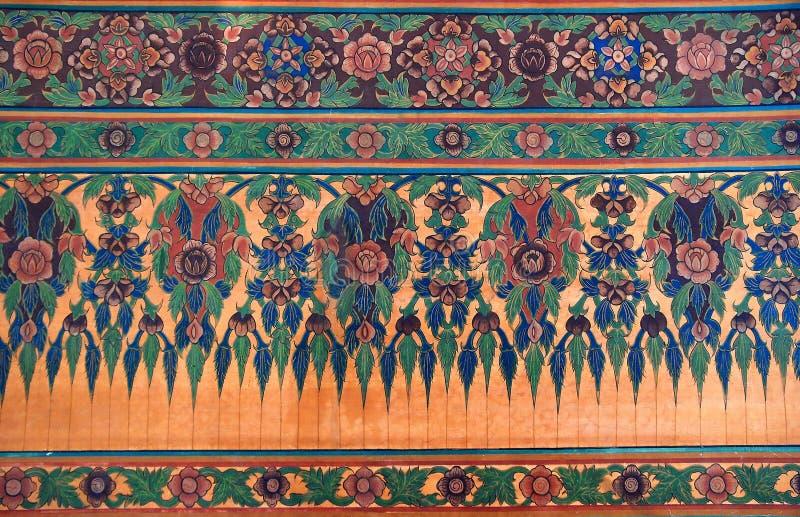 Ornamento tailandés decorativo de la flor imágenes de archivo libres de regalías