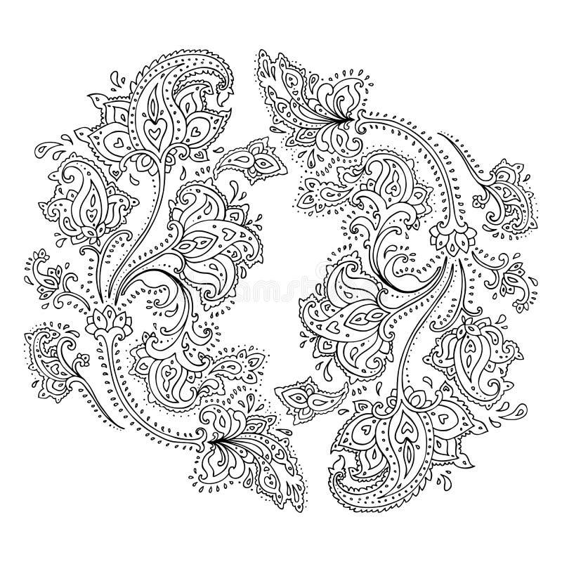 Ornamento tirado mão de Paisley. ilustração royalty free
