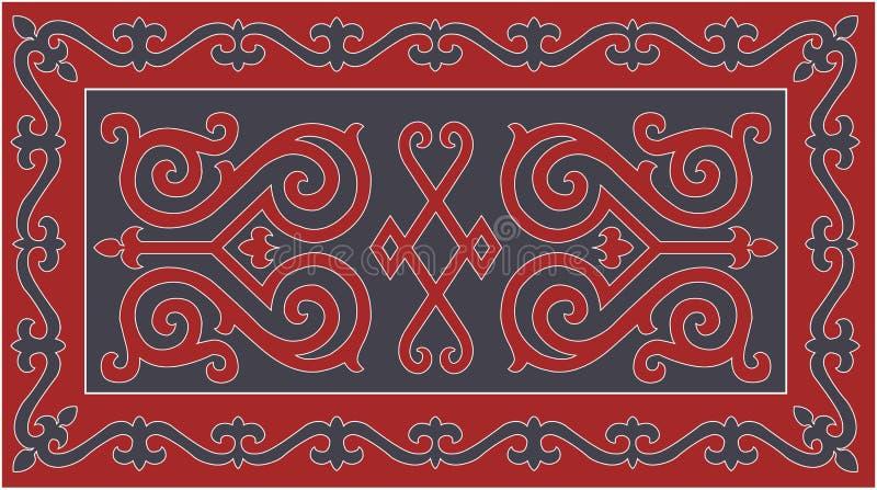 Ornamento tradicional checheno Ilustração do vetor ilustração do vetor