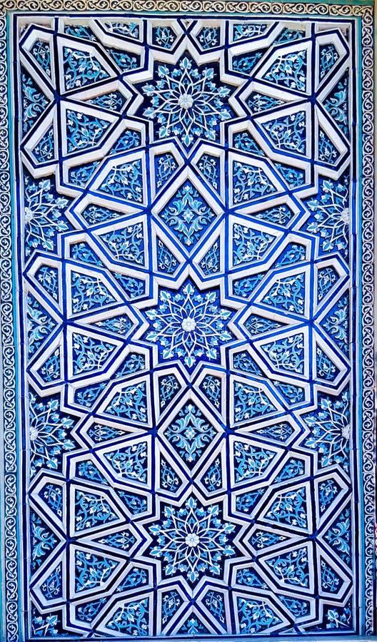 Ornamento tradicional del uzbek de cerámica imagen de archivo libre de regalías