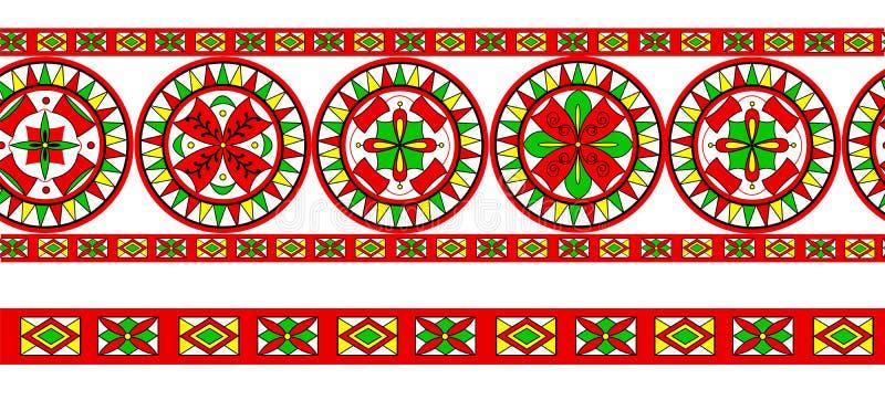 Ornamento tradicional do russo da região de Severodvinsk ilustração do vetor