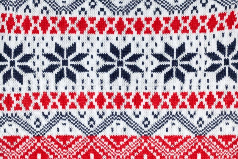 Ornamento tradicional feito malha dos cristmas de pano da tela fotografia de stock