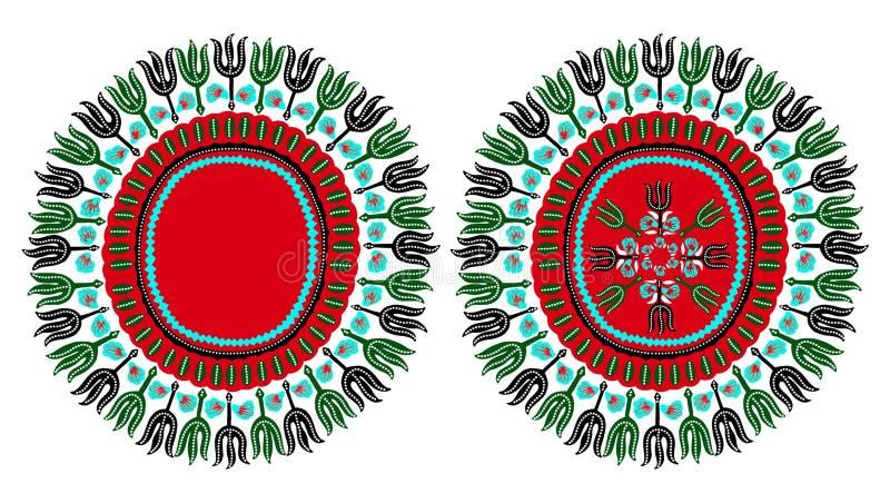 Ornamento tradizionale dell'Africano di Dashiki illustrazione vettoriale