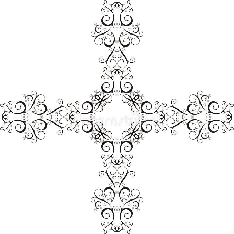 Ornamento transversais ilustração royalty free