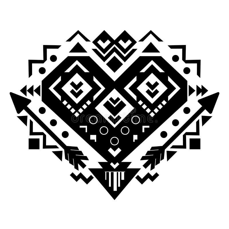 Ornamento tribal mexicano y azteca Vector ilustración del vector