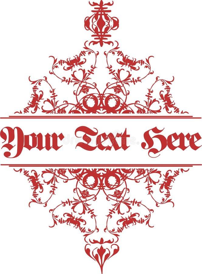 Ornamento unico del fondo con testo illustrazione di stock