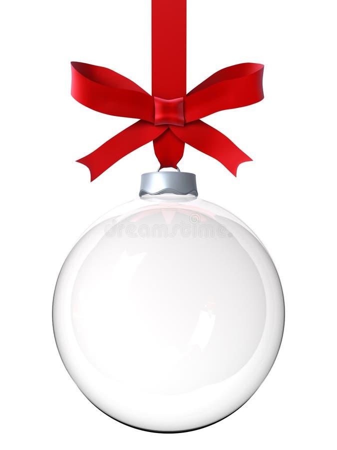 Ornamento vacío de la Navidad stock de ilustración