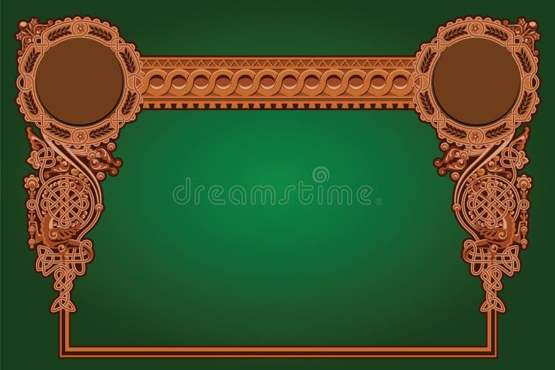 Ornamento velho do russo ilustração royalty free