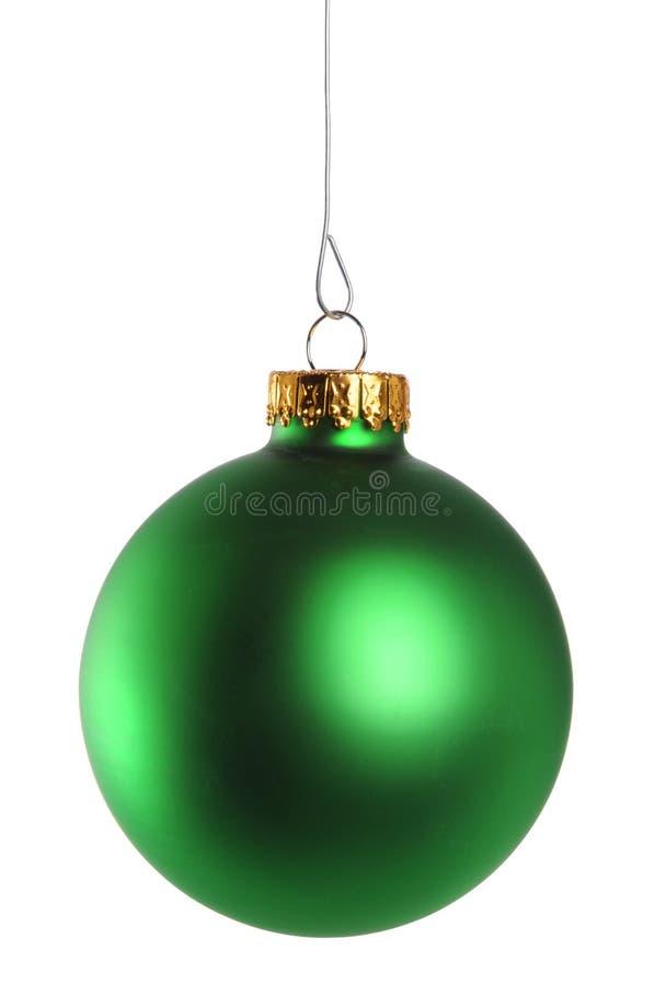 Ornamento verde do Natal imagens de stock