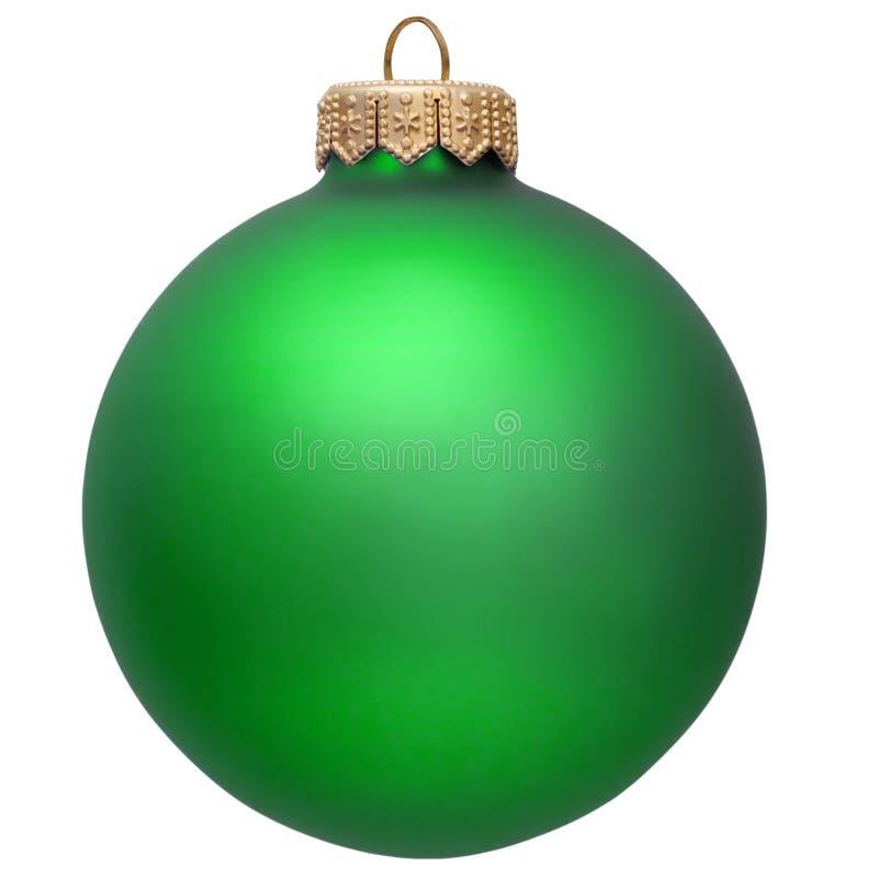 Ornamento verde do Natal. imagens de stock