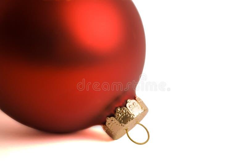 Ornamento vermelho do Natal imagens de stock royalty free