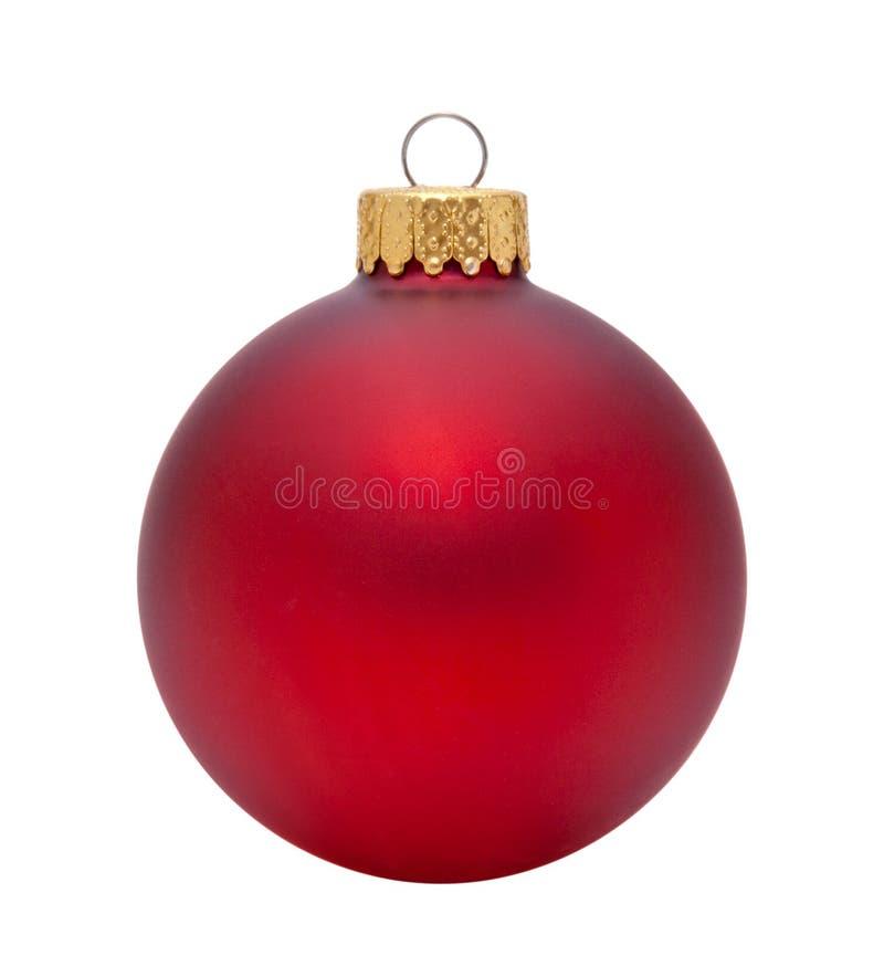 Ornamento vermelho do Natal fotografia de stock royalty free