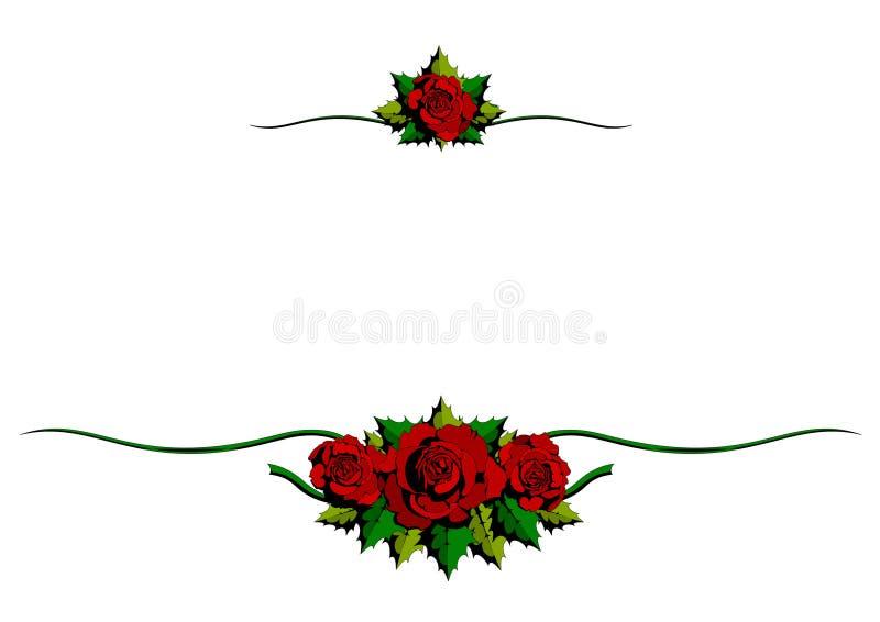 Ornamento vermelhos dos desenhos animados de Rosa ilustração do vetor