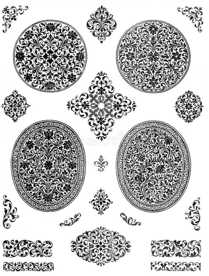 Ornamento vitorianos do estilo ilustração do vetor