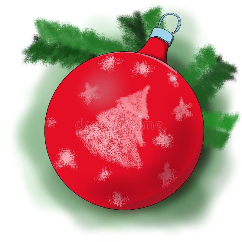 Ornamento y decoración de la Navidad ilustración del vector