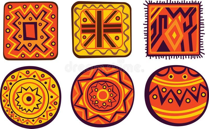 Ornamentos africanos ilustración del vector
