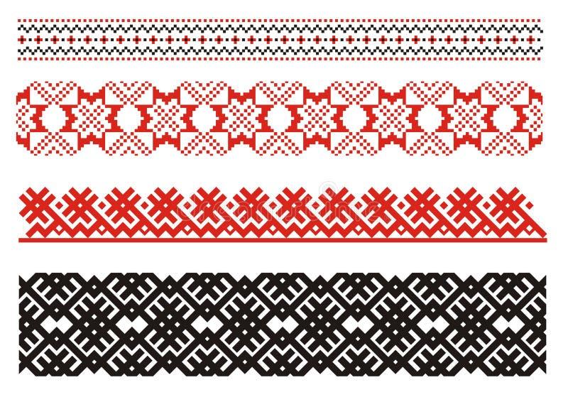 Ornamentos. Arte ucraniano. stock de ilustración