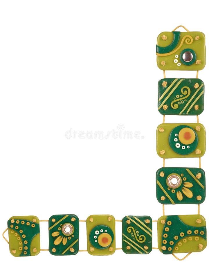 Ornamentos de la arcilla del polímero libre illustration