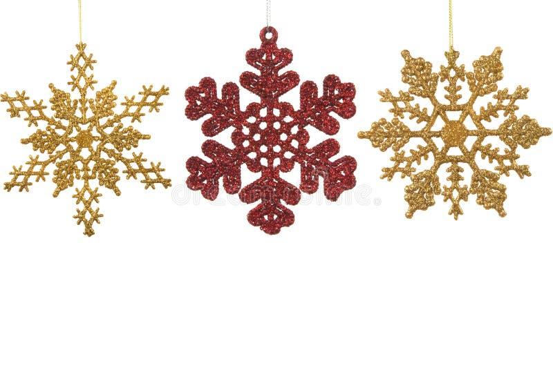 Ornamentos de la escama de la nieve imagen de archivo libre de regalías