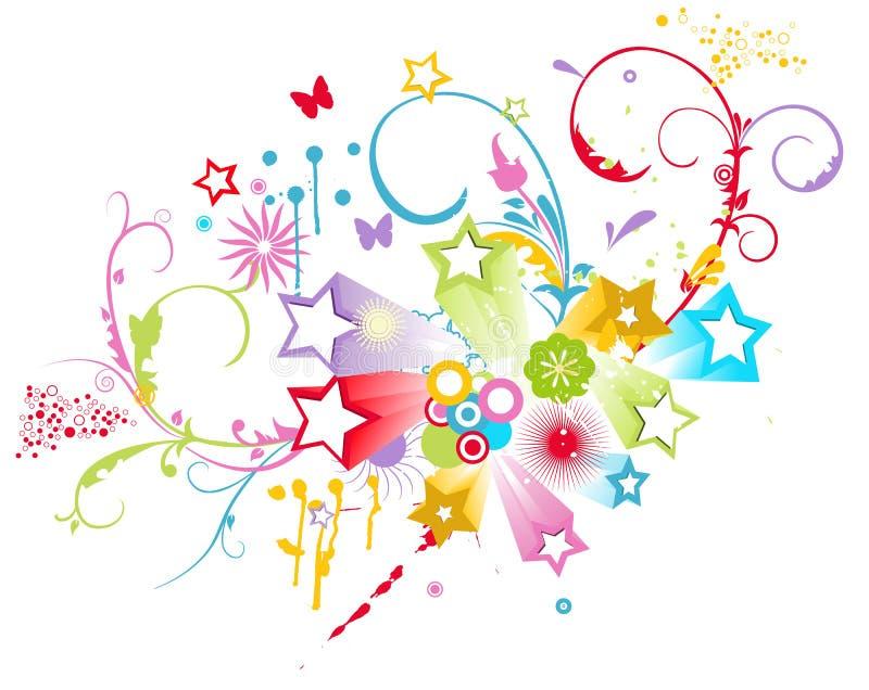 Ornamentos de la flor   stock de ilustración