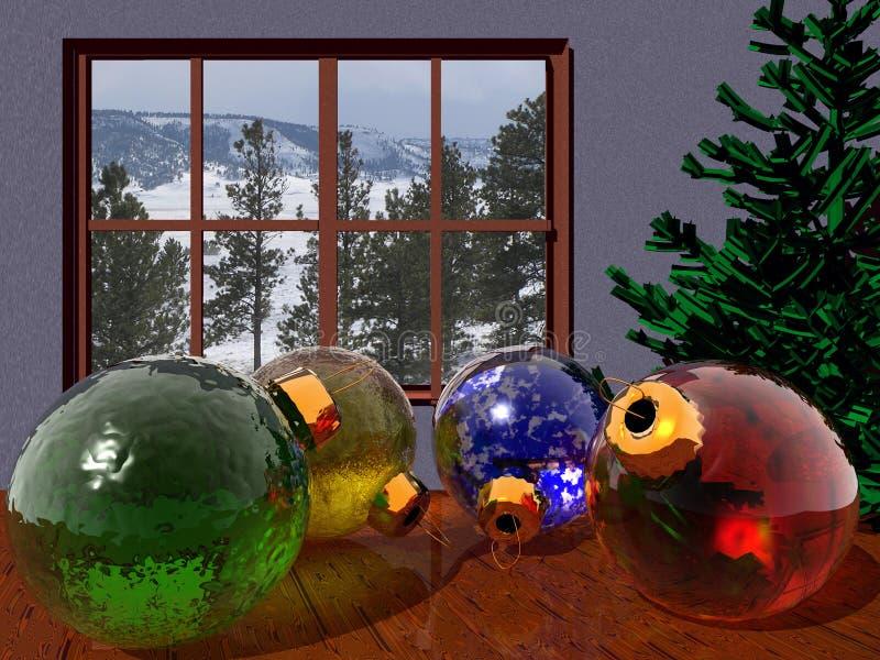 Download Ornamentos de la Navidad stock de ilustración. Ilustración de árbol - 7286897