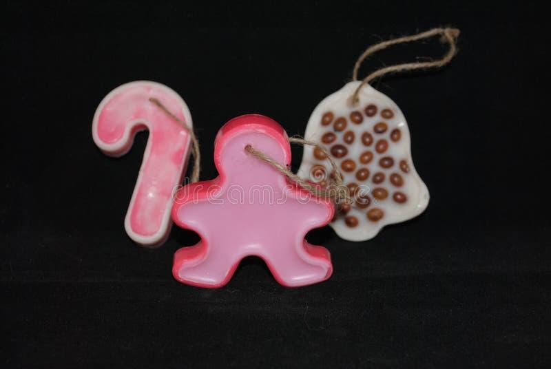 Ornamentos de la Navidad de la cera fotos de archivo libres de regalías