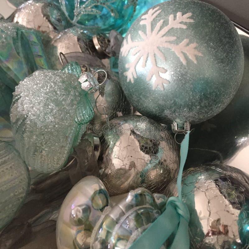 Ornamentos de la Navidad del tema del océano fotografía de archivo libre de regalías