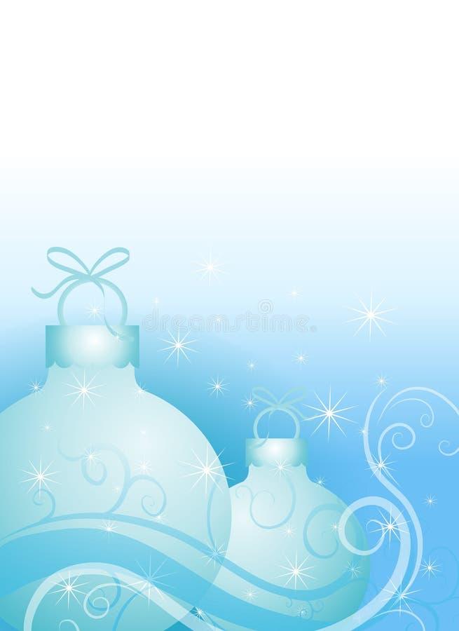 Ornamentos de la Navidad en azul ilustración del vector