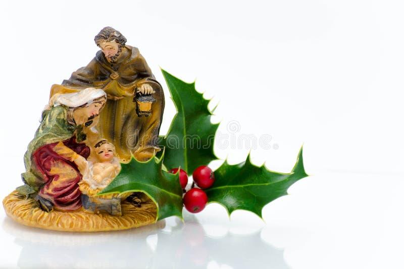 Ornamentos de la Navidad - ornamento de la familia de acebo imagen de archivo