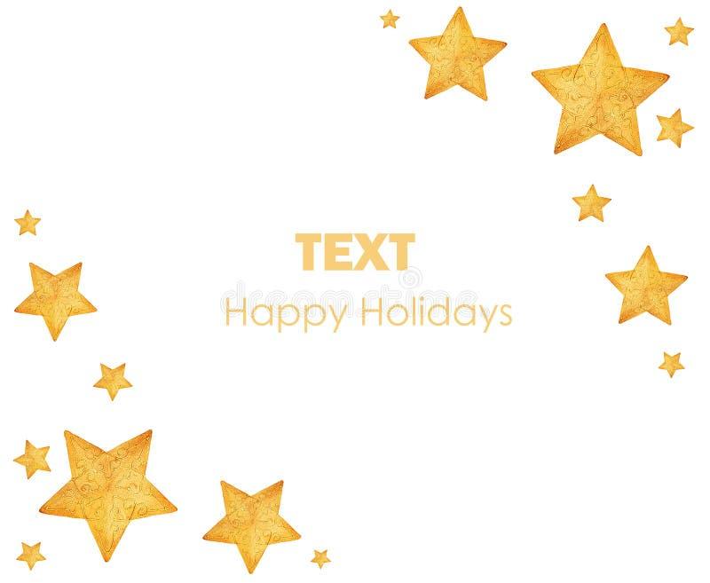 ornamentos de oro del rbol de navidad de las estrellas fotografa de archivo libre de regalas