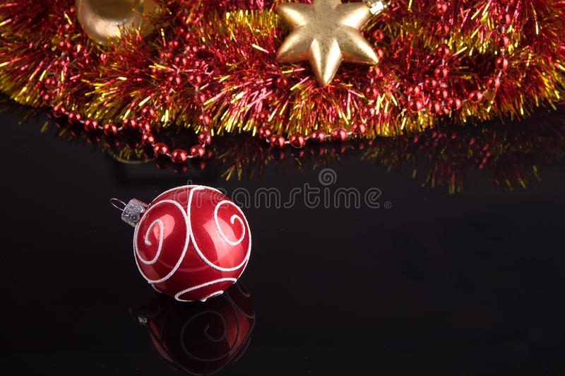 Ornamentos del árbol de navidad fotos de archivo