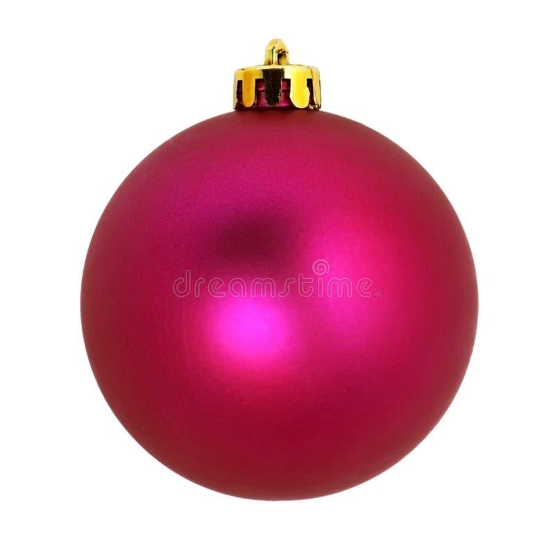 Ornamentos del árbol de navidad Bola decorativa Aislado en el fondo blanco fotografía de archivo libre de regalías