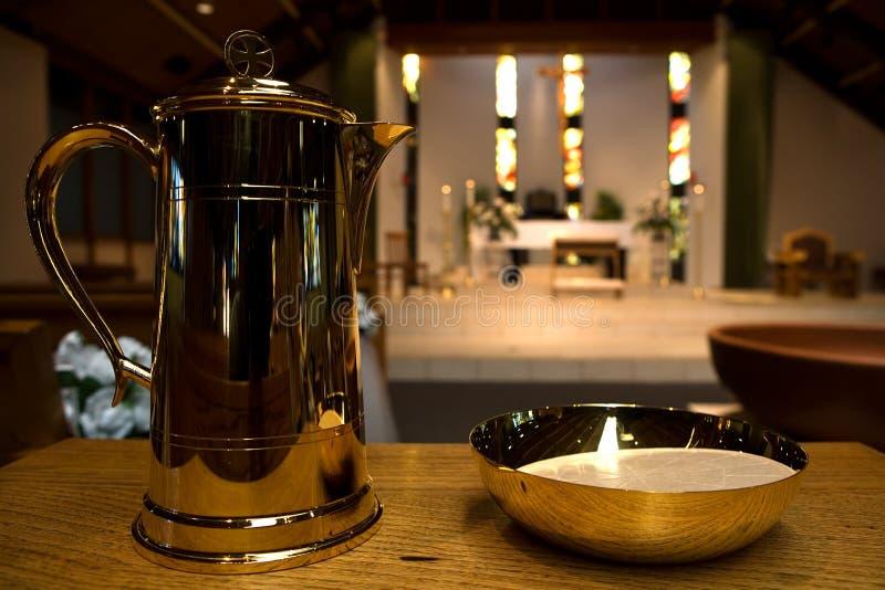 Ornamentos del altar de la iglesia fotos de archivo libres de regalías