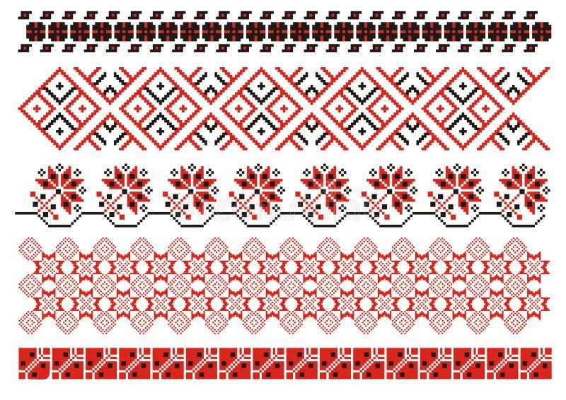 Download Ornamentos del vector ilustración del vector. Ilustración de bordado - 7276402
