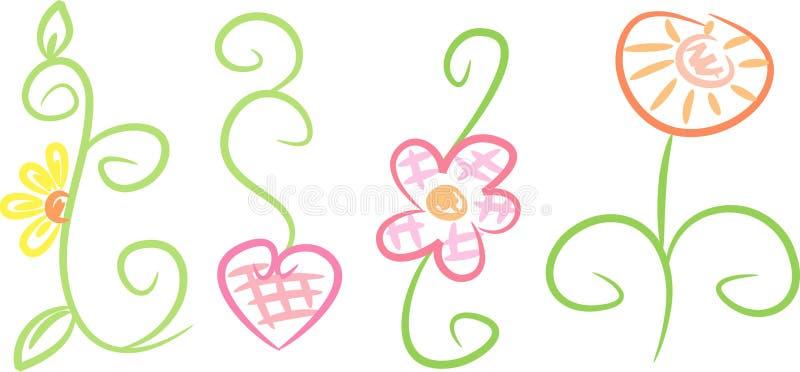 ornamentos En colores pastel-coloreados de la flor fotografía de archivo