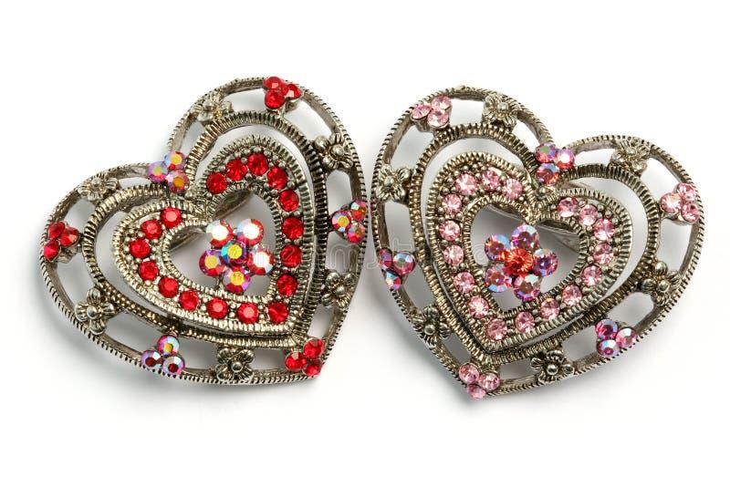 Ornamentos en forma de corazón 07 del pelo foto de archivo