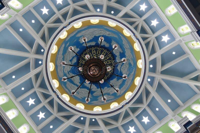 Ornamentos en la gran mezquita de Trenggalek imagenes de archivo