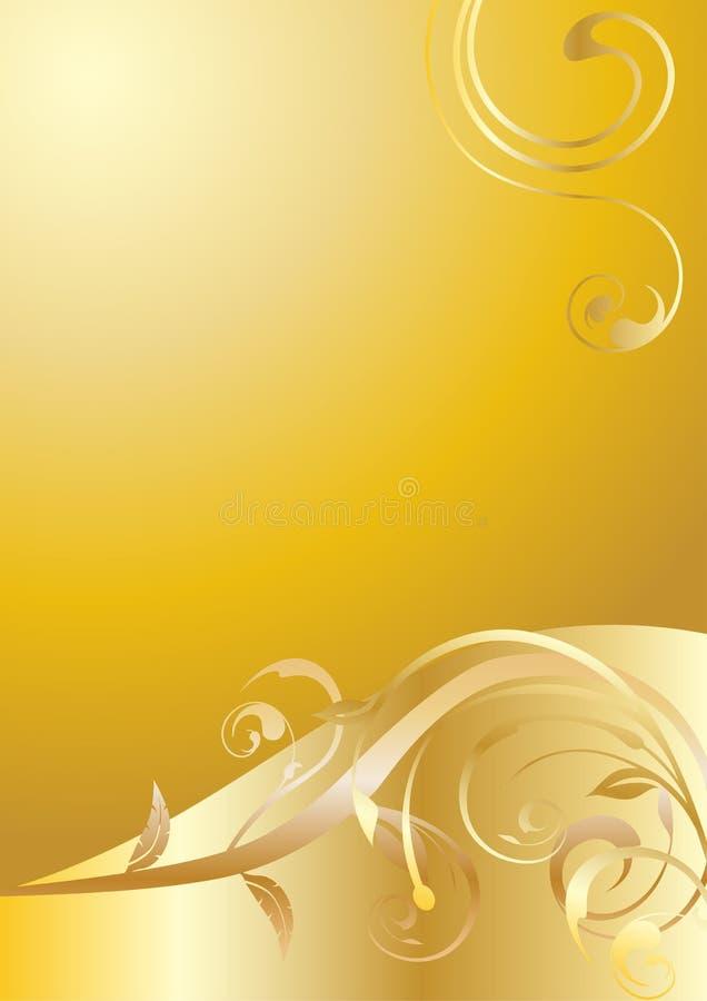 Ornamentos florales del oro libre illustration