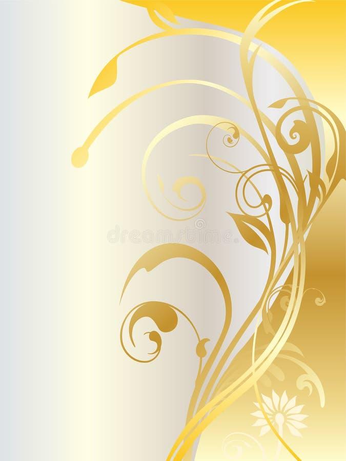Ornamentos florales del oro ilustración del vector
