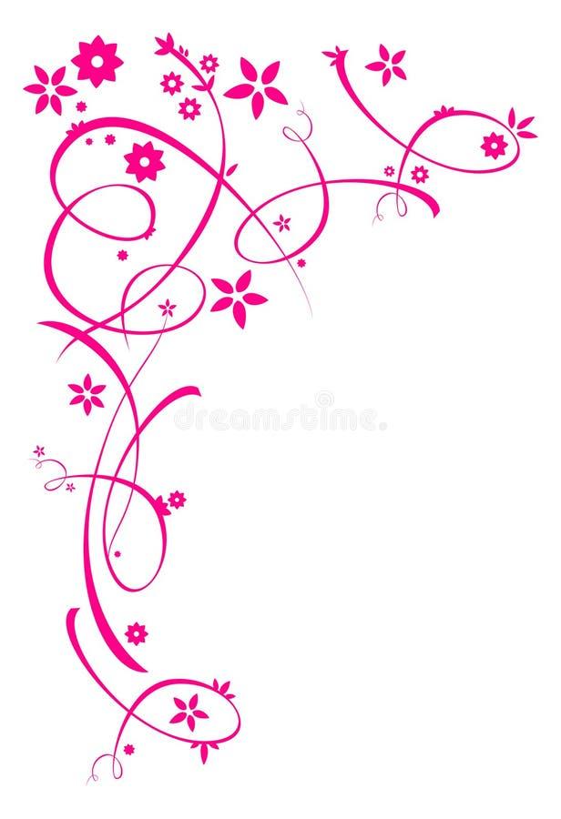 Ornamentos florales rosados ilustración del vector