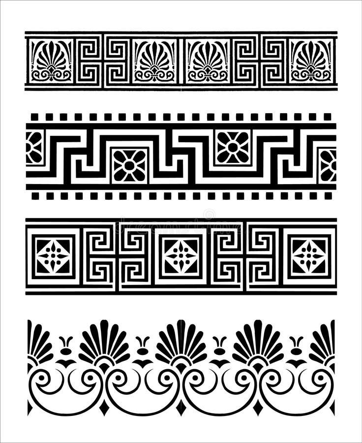 Ornamentos griegos imagenes de archivo