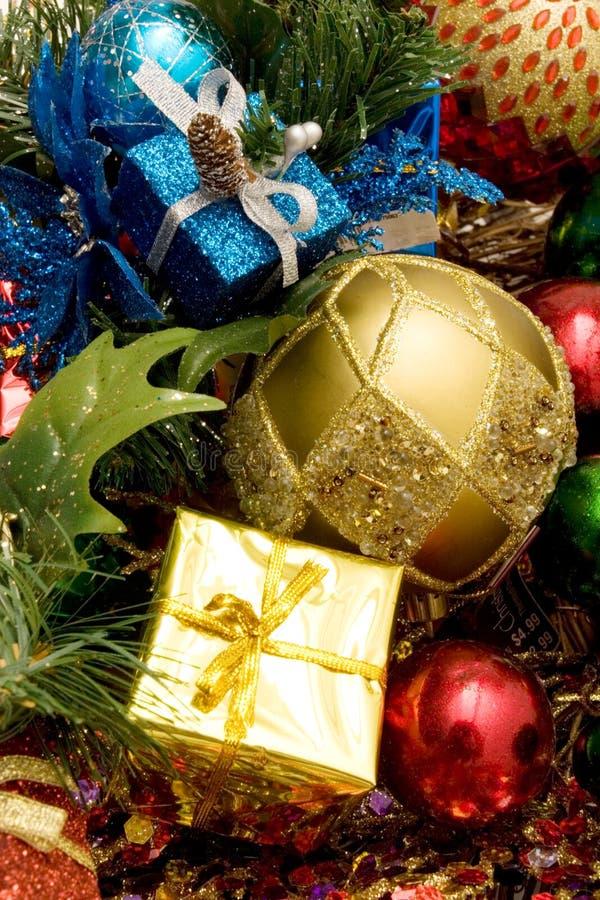Ornamentos hermosos de la Navidad foto de archivo libre de regalías