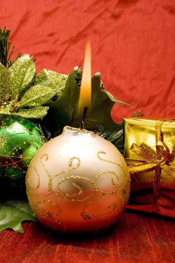 Ornamentos hermosos de la Navidad fotografía de archivo