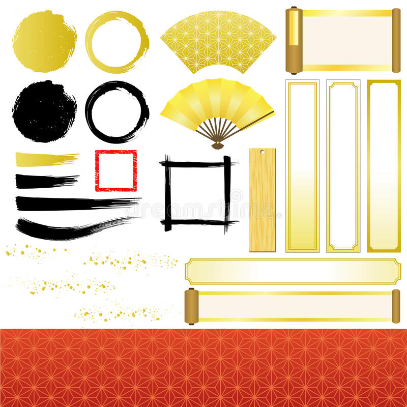 Ornamentos japoneses libre illustration